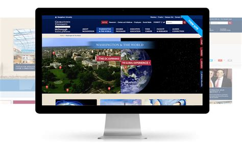 Georgetown Mba Color by Education Marketing Website Design Bluetext