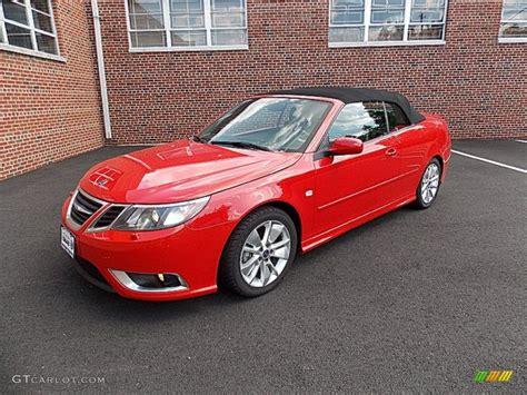 saab convertible red 2009 laser red saab 9 3 aero convertible 83141197