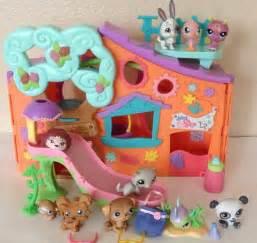 lps house littlest pet shop clubhouse orange tree house panda bunny