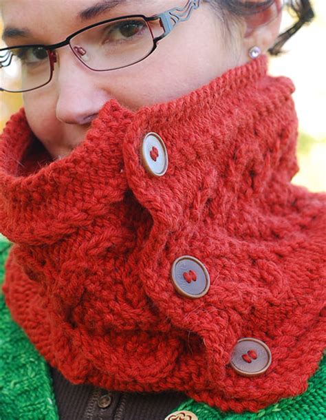 knitted cowl with buttons pattern button cowl knitting patterns and crochet patterns from