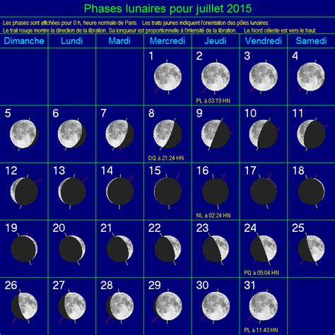 Calendrier Lunaire Juillet 2015 Ph 233 Nom 232 Nes Astronomiques 224 Observer En Juillet 2015