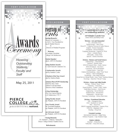awards program template awards ceremony program template free myideasbedroom