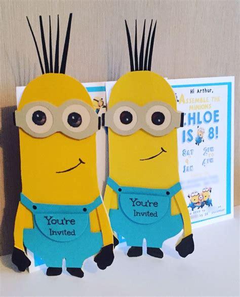 Handmade Minion Invitations - 17 best ideas about minion invitations on