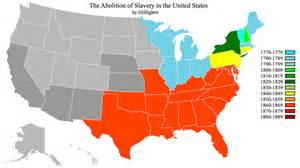 united states map of slavery abolition of slavery us by hillfighter on deviantart