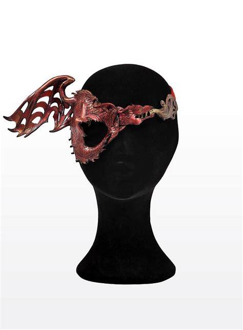 Carnival Theme Decorations Eye Patch Fire Dragon Leather Eye Mask