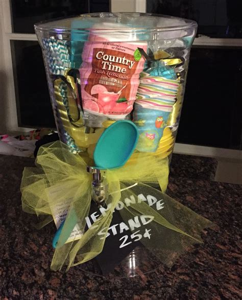themed basket ideas theme gift basket instant lemonade stand gifts