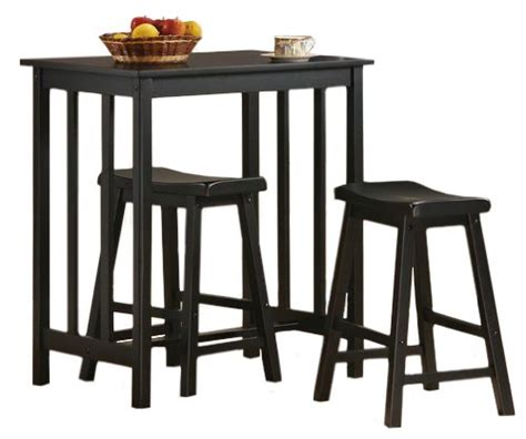 small table with 2 stools review 3 black finish table saddle bar stool set