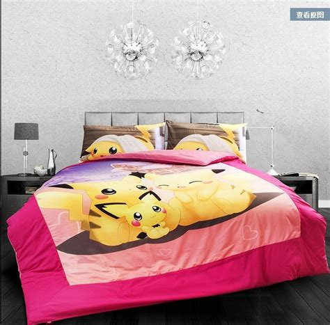 pokemon comforter queen new modern pokemon pikachu bedding set size full queen