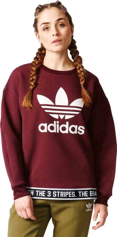 Sweater You Me Maroon adidas trf w sweater maroon white