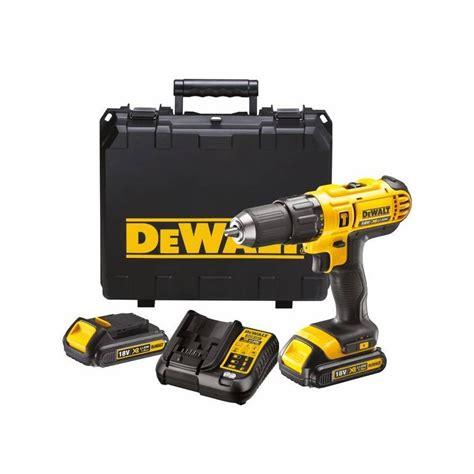 Dewalt Mesin Bor Dcd776c2 Hammer Drill Driver With Li Lon Battery dewalt dcd776c2 xr li ion 18v electrotools