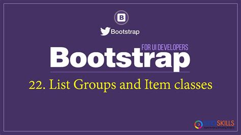 bootstrap tutorial list 22 bootstrap list groups tutorial in telugu youtube