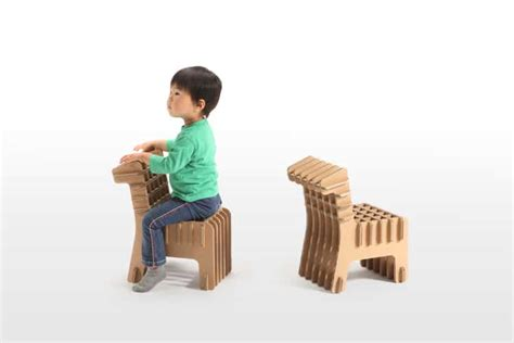 cardboard furniture  toys  kids  tsuchinoco