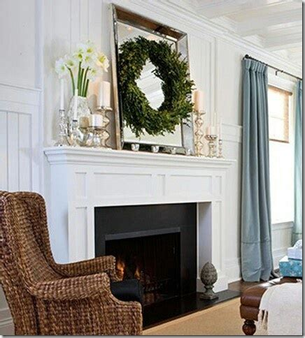 Decorating Ideas Mirror Above Fireplace White Fireplace Mantel Black Tile Home Ideas