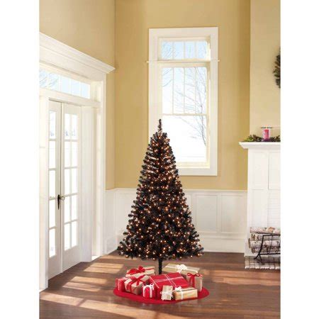 walmart 65 artifical xmas trees time pre lit 6 5 pine artificial tree clear lights walmart