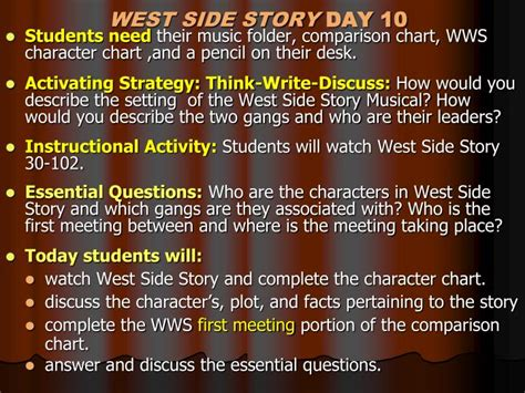 west side story themes romeo and juliet ppt unit romeo and juliet vs west side story