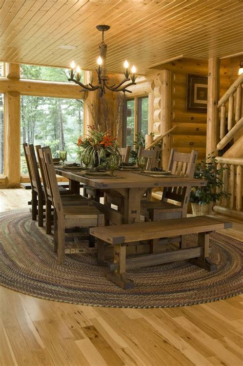 log cabin dining room furniture quot dirt to done quot log home project house flickr photo