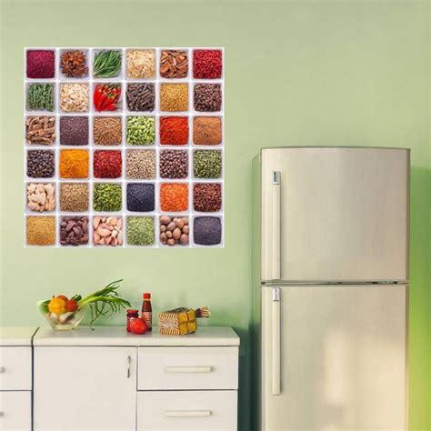 spezie cucina spezie mediterranee adesivo murale per cucina di alta
