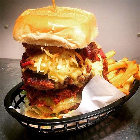 killa burger challenge manvfood burger challenge at the the hotplate noshery