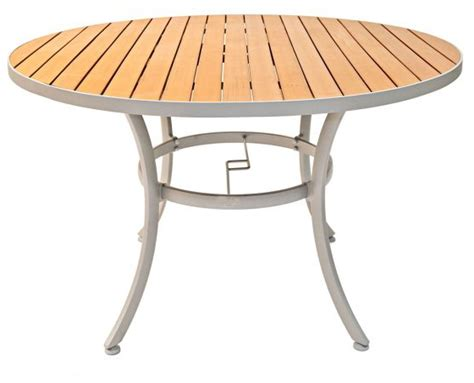 48 Inch Round Resin Teak Outdoor Restaurant Table 48 Inch Patio Table