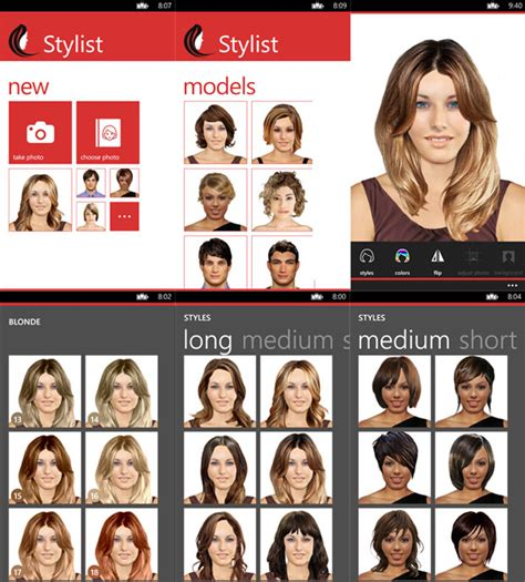 hairstyles and colors app stylist lets you try out new hair styles on your windows