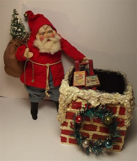 Handcrafted Santa Claus - handmade santa claus chimney by sweet s klaus