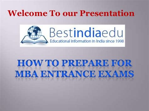 Top Mba Exams by How To Prepare For Mba Entrance Exams
