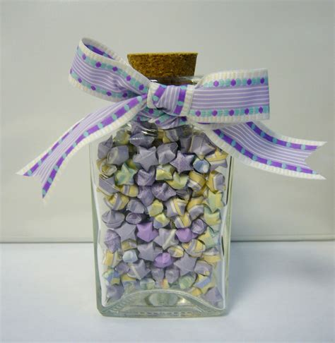 Jar Of Origami - lavender n origami lucky jar this triangle