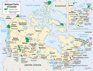 national park canada map united states national parks encyclopedia