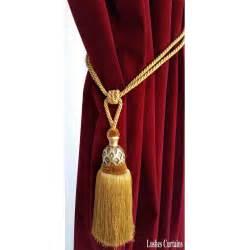 drapery tassel gold curtain wood tassel tie backs gold decorative