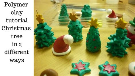 how to make simple clay christmas trees polymer clay tutorial tree in 2 different ways
