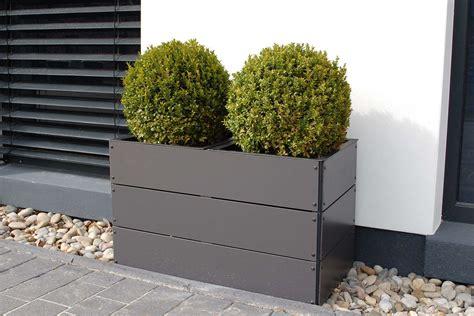 pflanzkübel fiberglas grau pflanztrog 60x60x60 bestseller shop