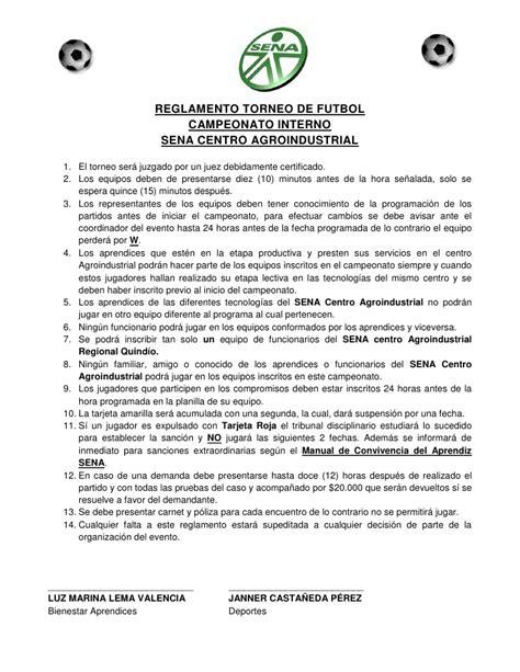 reglamento de futbol ecuador 2016 reglamento torneo interno de futbol