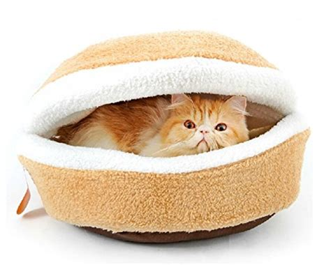 hamburger cat bed petforu hamburger style shell nest windproof waterproof