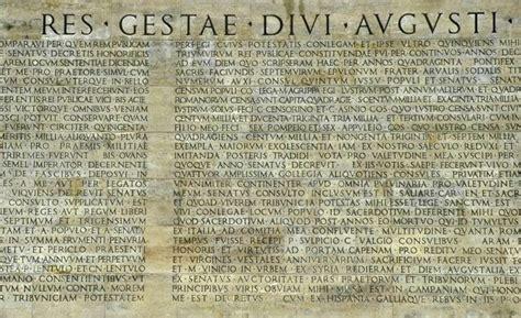 res gestae divi augusti translation res gestae