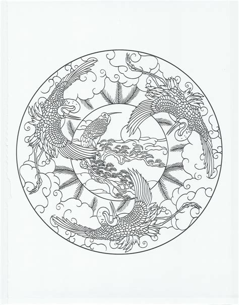 coloring castle mandala pages animal mandala crane coloring pages