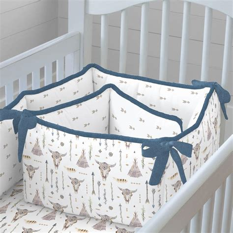 boho crib bedding blue denim boho crib bedding carousel designs