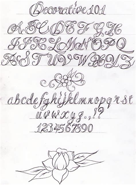 decorative writing tutorial by nevermore ink on deviantart