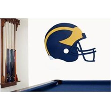 michigan football fan gear of michigan wolverines football helmet wall
