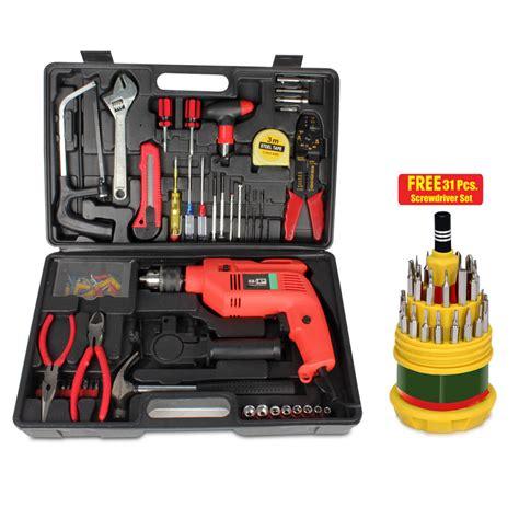 kits uk buy new 102 pcs multipurpose tool kit with powerful drill