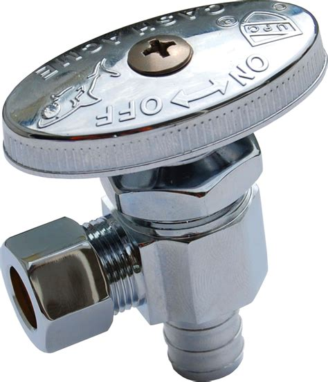 Angle Stop Plumbing by Pex Chrome Plated 1 4 Turn Staight Stops Od Compression