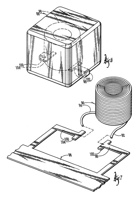 ihlp inductor material patent us6204744 high current low profile inductor patents