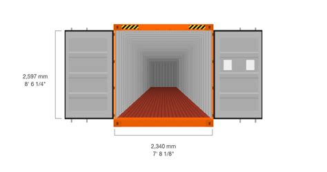 How To Frame A Door Opening 40 standard high cube hapag lloyd