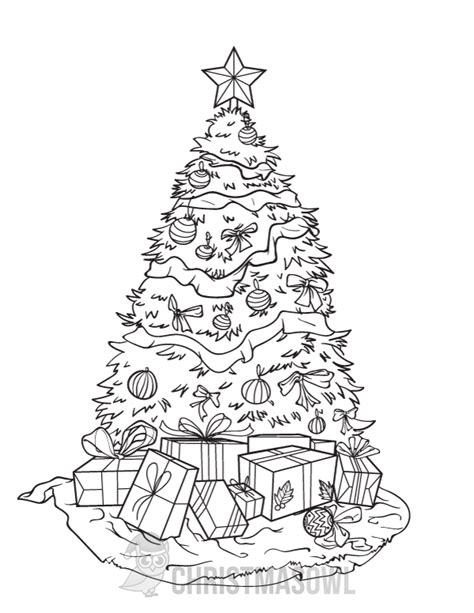 christmas coloring pages to download free christmas tree coloring page