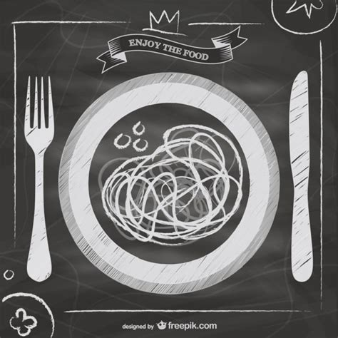 Blackboard restaurant menu cheese design Vector   Free