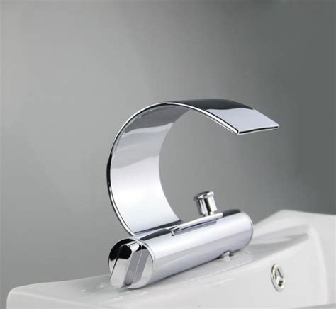 bathtub wall faucet ouboni bathroom wall mounted waterfall chrome double