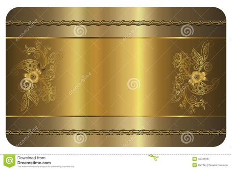 Business Card Template Gold Card Stock Illustration Image 45731917 Card Background Templates 2