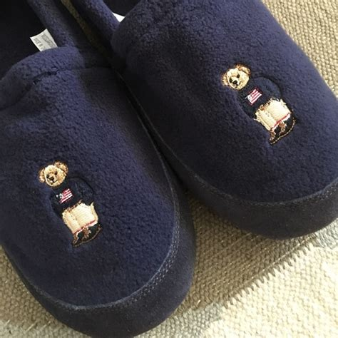 polo ralph lauren house slippers ralph lauren ralph lauren polo bear house slippers xl from nathan s closet on poshmark