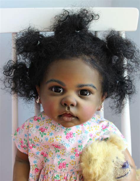 Etnic Black reborn big baby doll toddler aa ethnic black tippi by