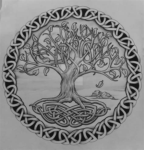 Celtic Tree Of Life Tattoo On Right Shoulder By Tattoo Design Celtic Tree Of Arm