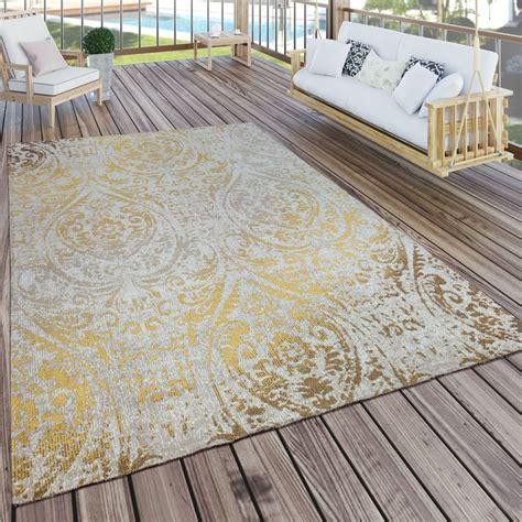 tappeto per esterni tappeto per interni ed esterni motivo orientale giallo